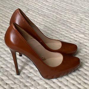 ZARA Brown High Heels w/ Hidden Platform